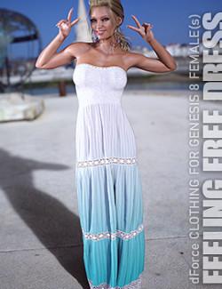 dForce Feeling Free Dress for Genesis 8 Females