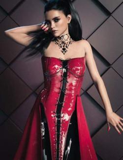 CB Sophia dForce Clothing Set Latex Texture Expansion