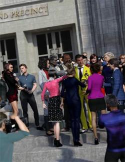 Now-Crowd Billboards- Paparazzi Reporters