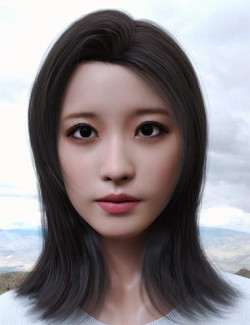 Yami Character and Hair for Genesis 8.1 Female