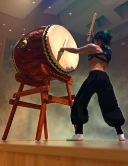 SBibb Taiko Props and Poses for Genesis 8 and 8.1