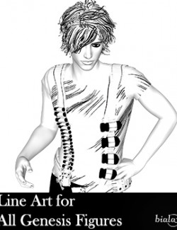Line Art for All Genesis Figures