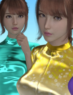 X7 Materials for Japanese Swimsuit 02 for Genesis 8 Females