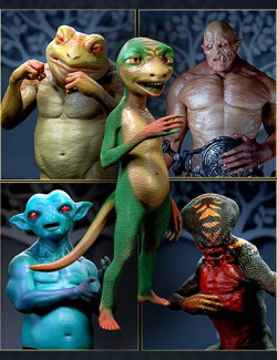 Alternate Textures for Oso Newt and Genesis 8.1 Males