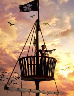 Swashbuckler Poses Props and Crows Nest for Genesis 8