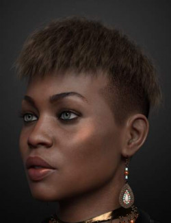 Short Undercut Hair for Genesis 3, 8, and 8.1 Males and Females