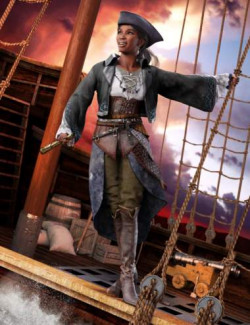 dForce Corsican Raider Outfit for Genesis 8 and 8.1 Females
