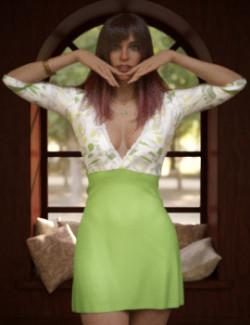 dForce KlassyDress for Genesis 8 Female