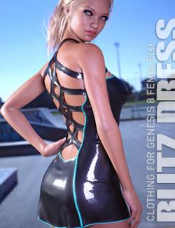 dForce Blitz Dress for Genesis 8 Females