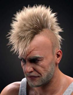 M3D Tough Guy Hair Set Genesis 8.1 Males