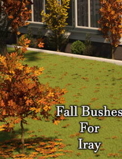Fall Bushes and Leaf Litter For Daz Studio With Iray
