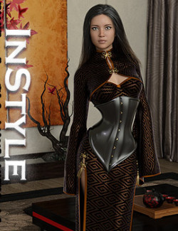 InStyle- Midnight Kimono dforce outfit for Genesis 8 & 8.1 Female(s)