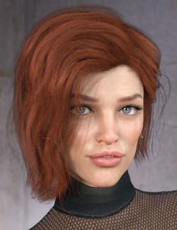 Kitty Hair for Genesis 8 Females