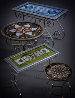 B.E.T.T.Y. Stained Glass Tables