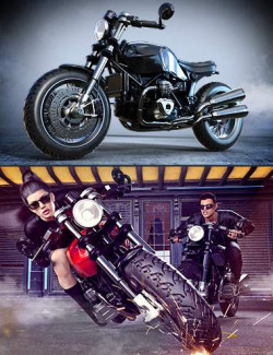 Z Modern Roadster Motorbike and Poses
