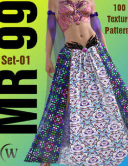 MR-99 Set-01 Textures, Merchant Resource Collection 60 Patterns w/ Support Maps