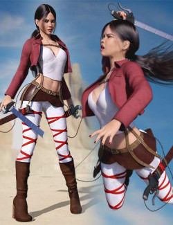 Giant Slayer Outfit Set for Genesis 8 and 8.1 Females