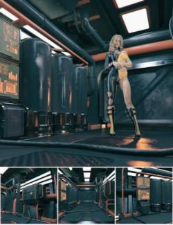 Sci-Fi Corridor Vignette