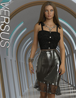 VERSUS- dForce Reina Outfit for Genesis 8.1 Females