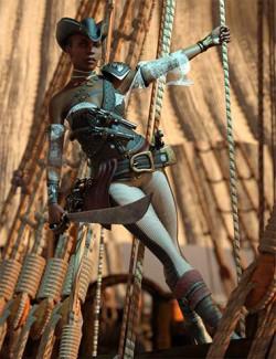 Black Pearl Poses for Jinx Jones 8.1