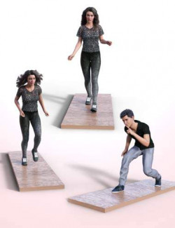 Walking and Running Poses for Genesis 8.1