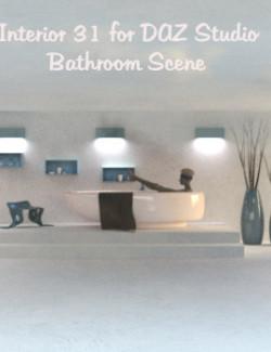 Interior 31 for DAZ Studio (Bathroom Scene)