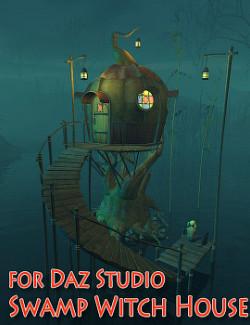 Swamp Witch House for Daz Studio