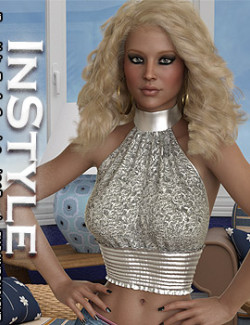 InStyle - dForce Halter Top for Genesis 8 and 8.1 Females