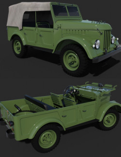 GAZ 69 COMMAND CAR for DAZ Studio