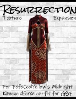 Resurrection for FefeCoolYellow's dForce Midnight Kimono for G8F
