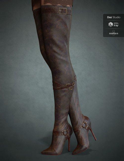 Vertigo High Heel Boots for Genesis 3, 8 and 8.1 Females