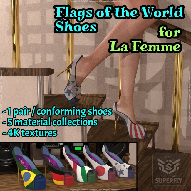 Flags of the world shoes