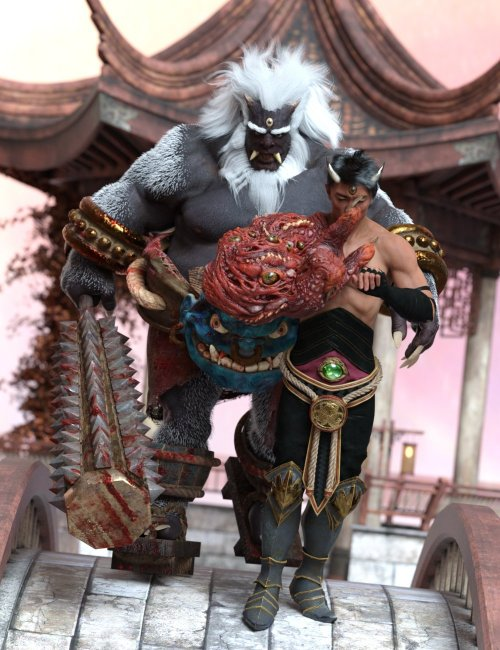 Demon Duo Poses for Oni HD and Arm of the Demon King