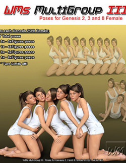 WMs MultiGroup III - Poses for Genesis 2, 3 and 8 Female