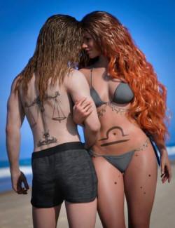 Libra Zodiac Tattoo for Genesis 8.1