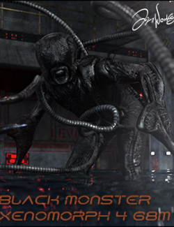 Black Monster Xenomorph Character and Clothing for Genesis 8 Male