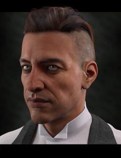 dForce Swanky Undercut Hair for Genesis 3, 8, and 8.1 Males