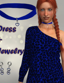 LeopardDress Outfit for Genesis 8 Female