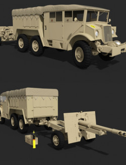 CMP CHEVROLET 6X6 WITH 25 PDR for DAZ Studio