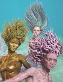 dForce Marina Mermaid Hair for Genesis 8 Females