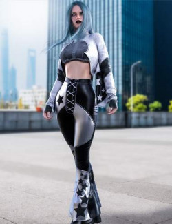 dForce BatWing Style Outfit For Genesis 8 and 8.1 Females