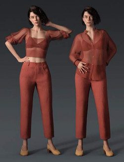 dForce Crisp Linen Outfit for Genesis 8 and 8.1 Females