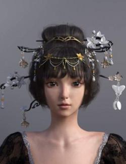 Luoqu Hair for Genesis 8.1 Female