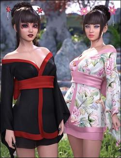 dForce Koharu Kimono Textures