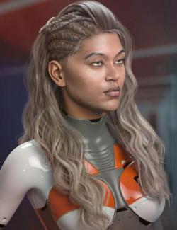 Neona Hair for Genesis 3, 8, and 8.1 Females
