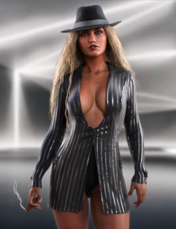 Midnight Crime dForce outfit for Genesis 8 & 8.1 Females