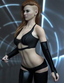 X-Fashion Exquisite Bodysuit Set for Genesis 8.1 Females