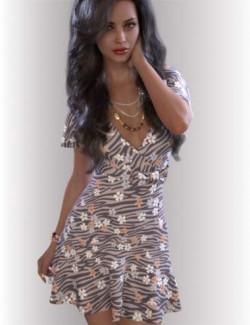 dForce Miranda Dress Outfit for Genesis 8.1 Females