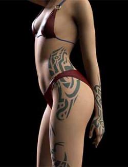 JMaki's Female Tribal Tattoo Set for Genesis 8/8.1