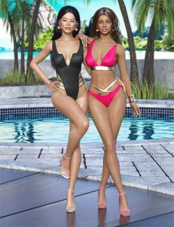 Girls of Summer II Outfit for Genesis 8 and Genesis 8.1 Females